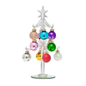 tabletop Christmas trees godinger crystal