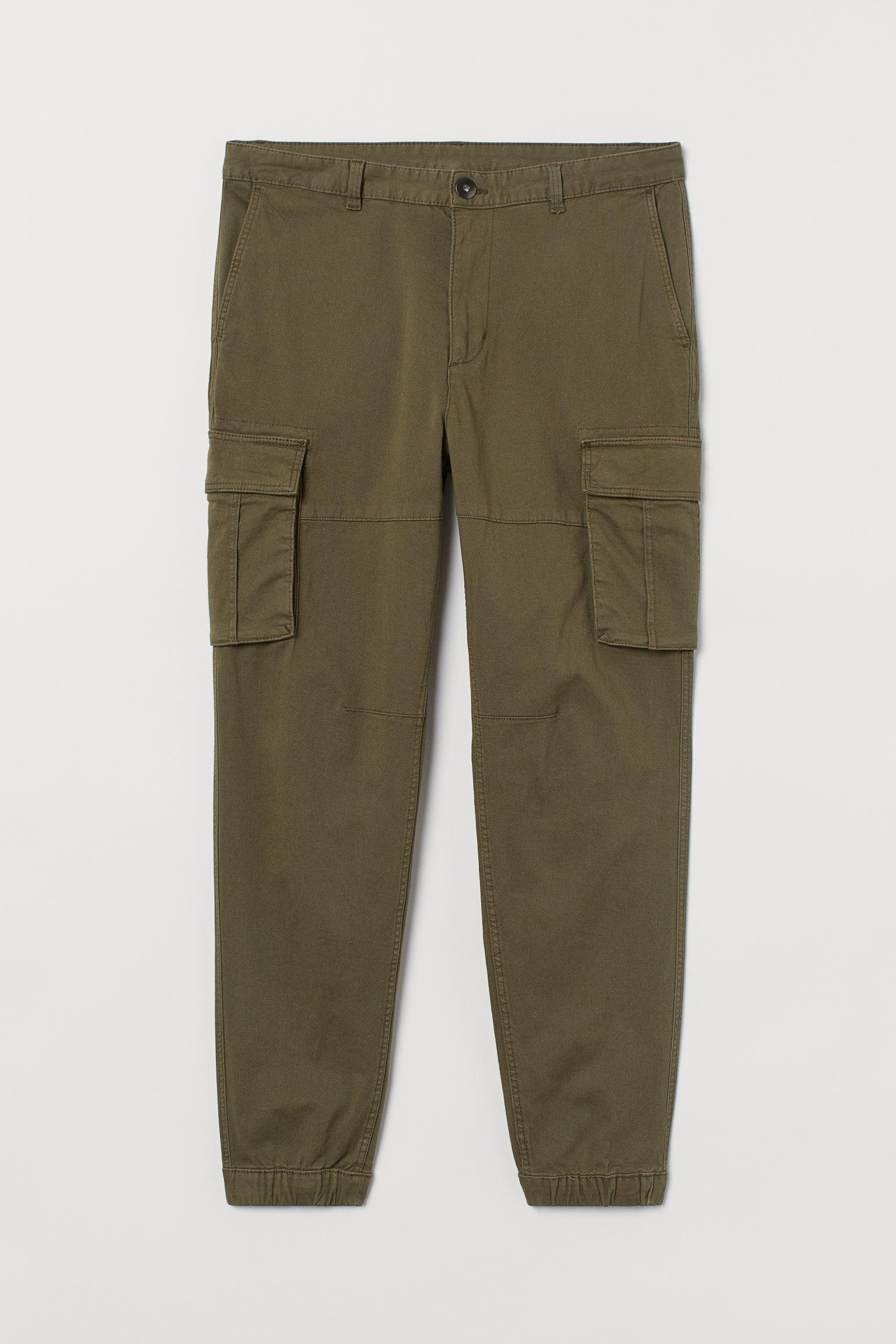 H&M Slim Fit Cargo Pants in green