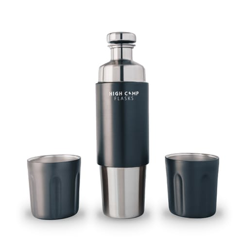 High Camp Firelight 750 Flask with two magnetic cups
