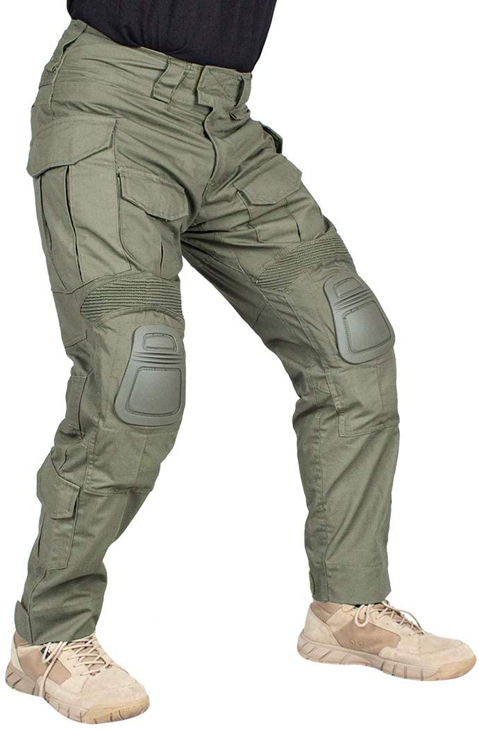 IDOGEAR G3 Combat Tactical Pants with knee pads in green