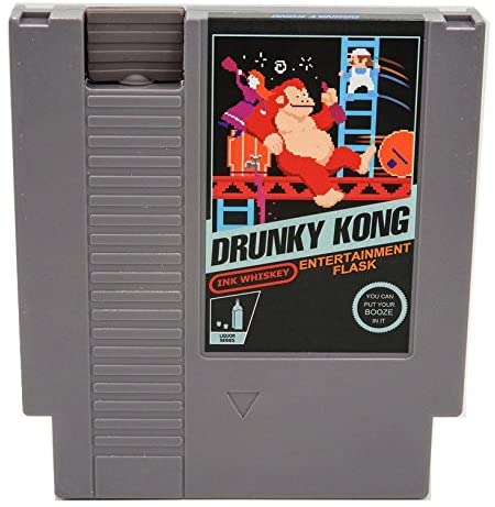 Ink Whiskey NES Entertainment Flask, Drunky Kong