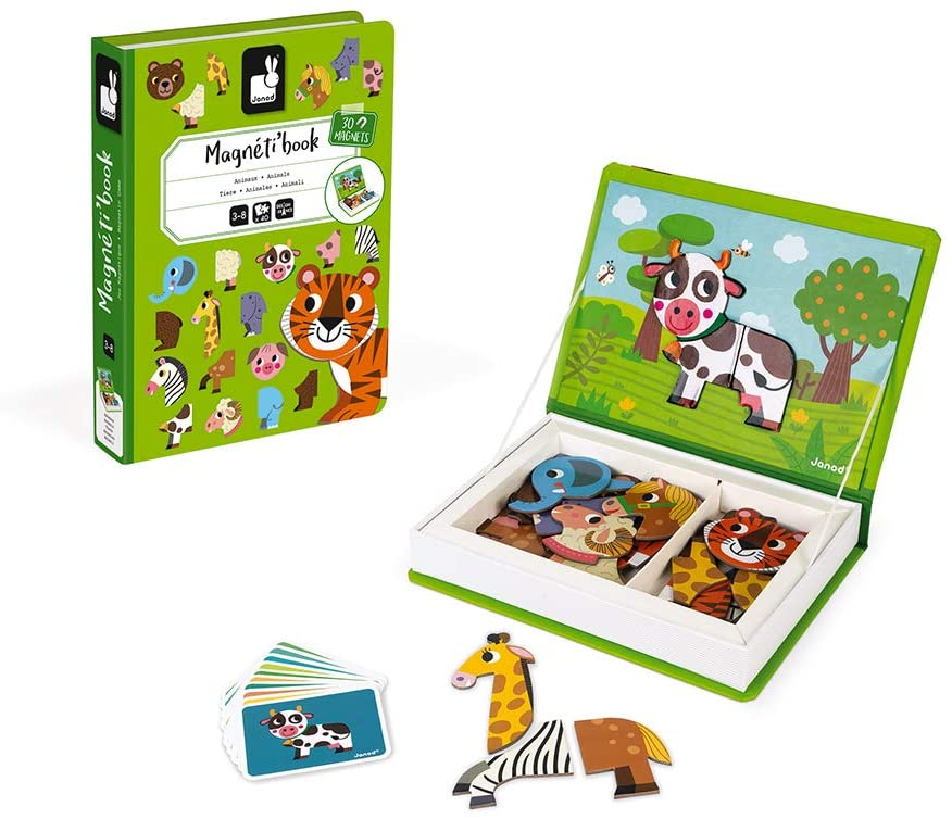 Janod MagnetiBook Magnetic Animal Mix and Match Game