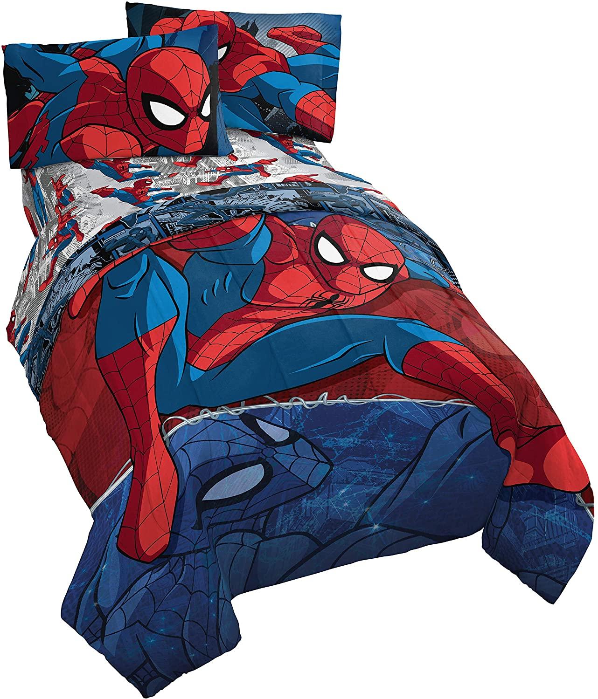 spiderman toys jay franco marvel twin bed set
