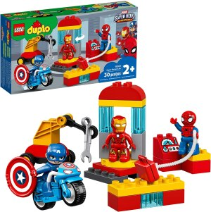 lego duplo super heroes lab construction toy