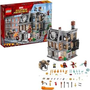 lego marvel super heroes sanctum sanctorum, best spider-man toys