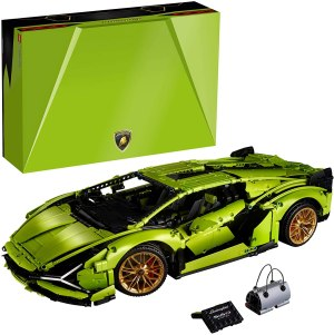 best LEGO car sets - LEGO Technic Lamborghini Sián FKP 37 Car Building Kit (in light green)