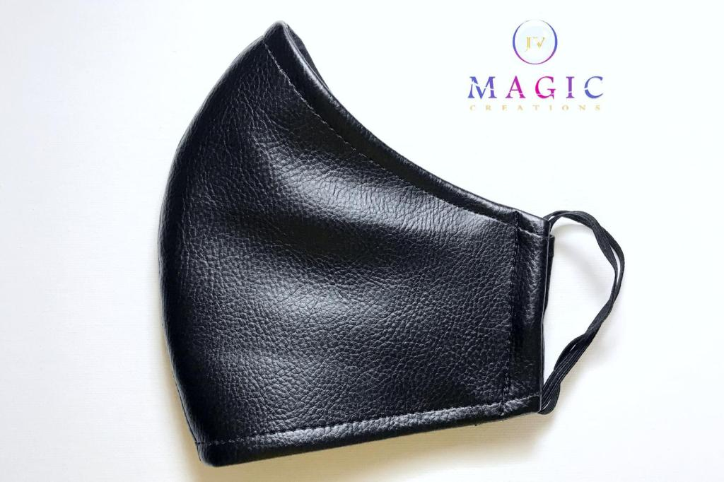 Faux Leather Facemask by JV Magic Creations
