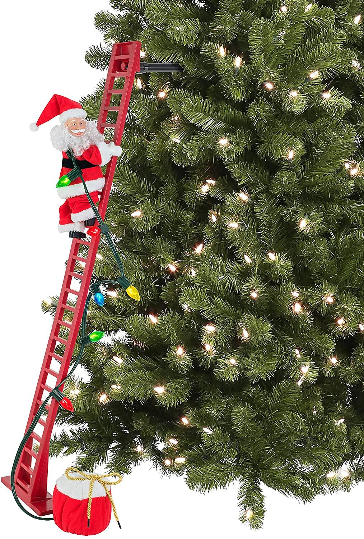 santa climbing ladder model