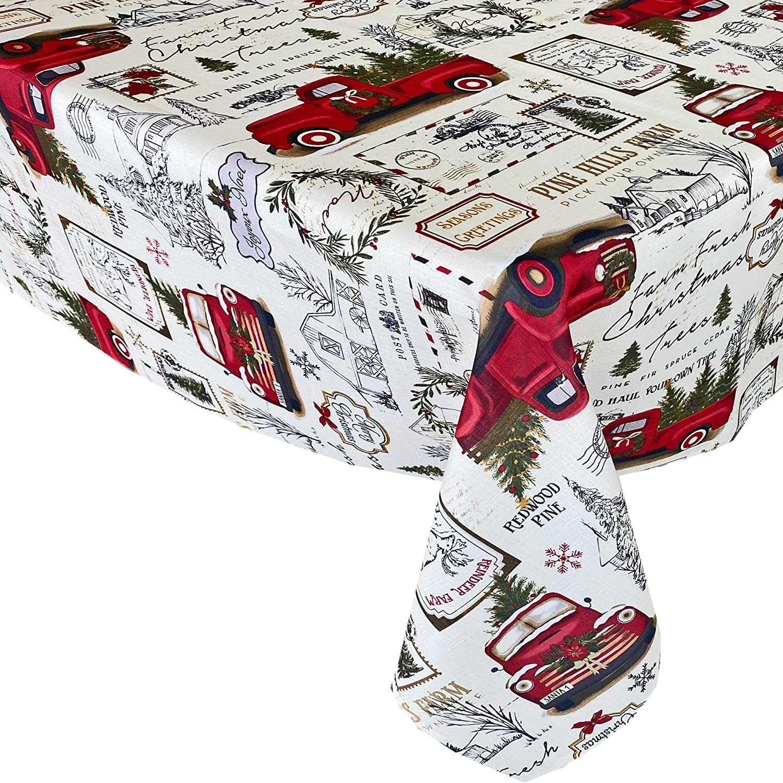 Newbridge Pine Hill Christmas Tree Farm Fabric Holiday Tablecloth