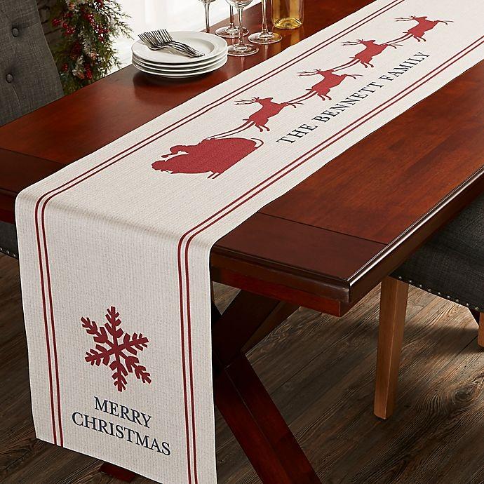 Nostalgic Noel Personalized 120-Inch Table Runner