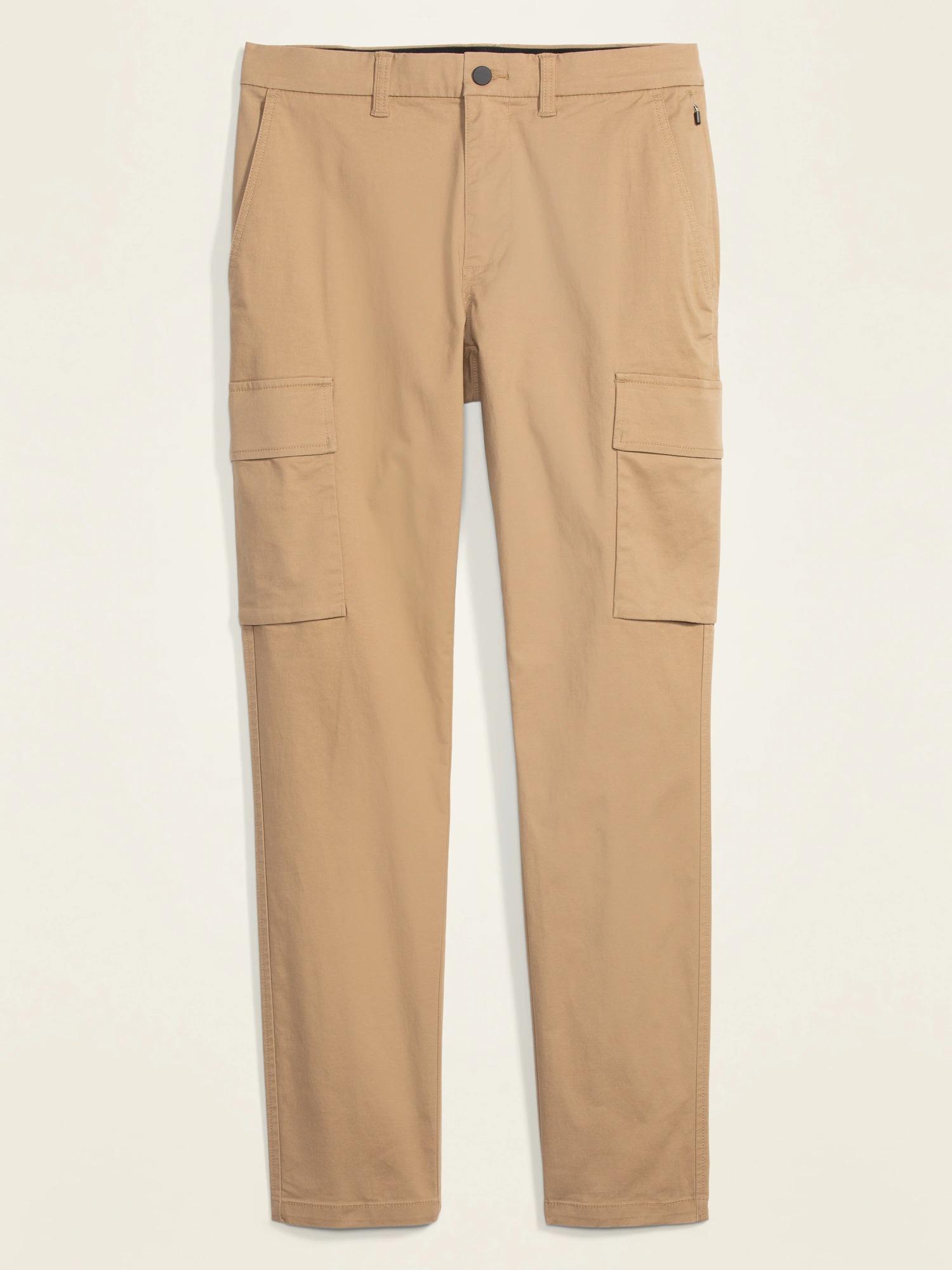 Old Navy Slim Taper Ultimate Tech Cargo Pants for Men in khaki
