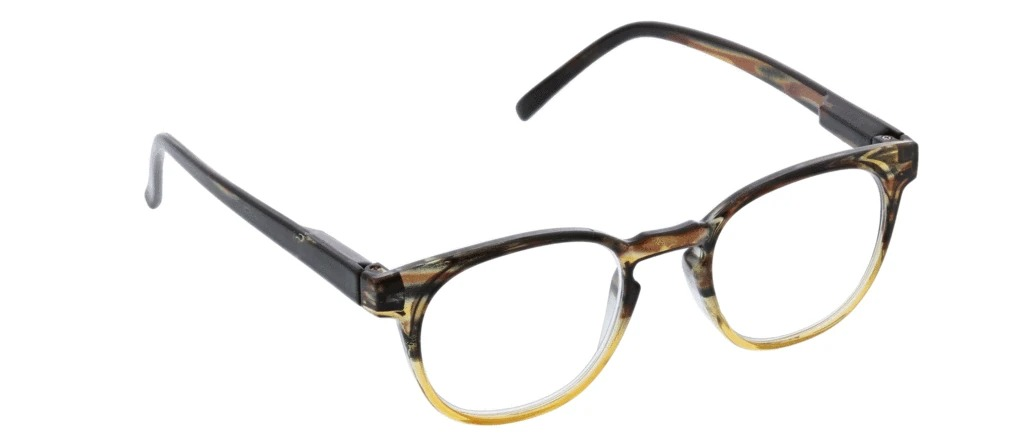 Peepers Dynomite blue light glasses in tan brown ombre