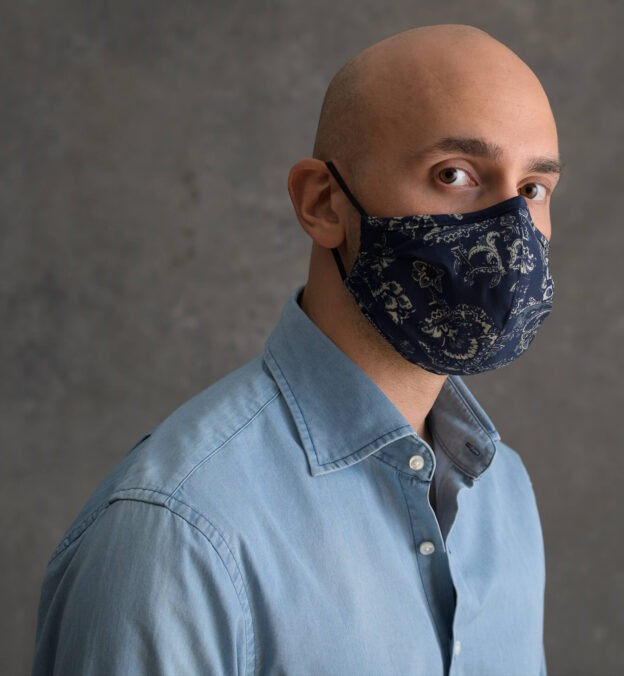 Proper Cloth The Everyday Mask (Blue Paisley), best gifts for coworkers