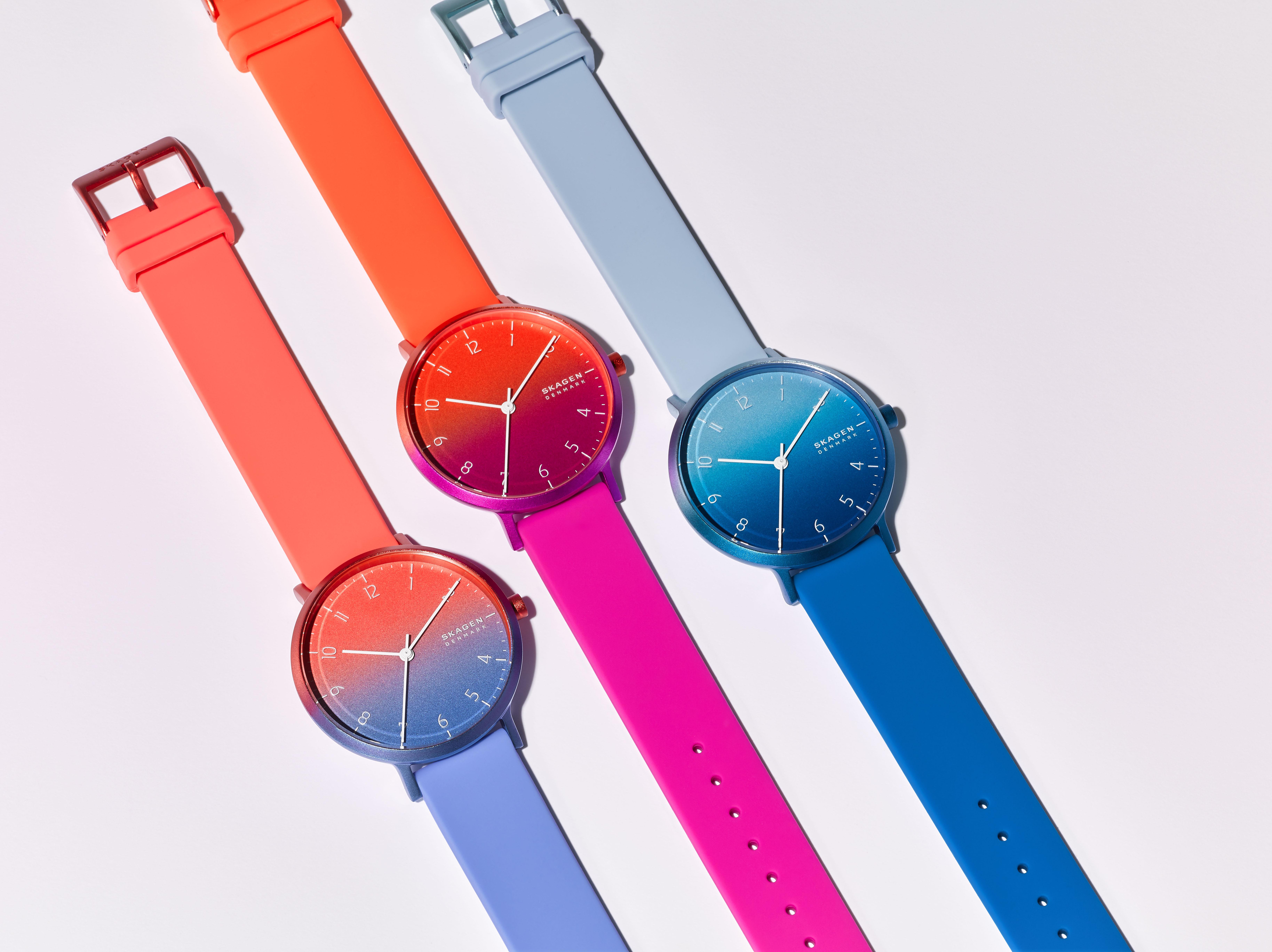 Skagen Aaren Ombre Three-Hand Multi-Colored Watch