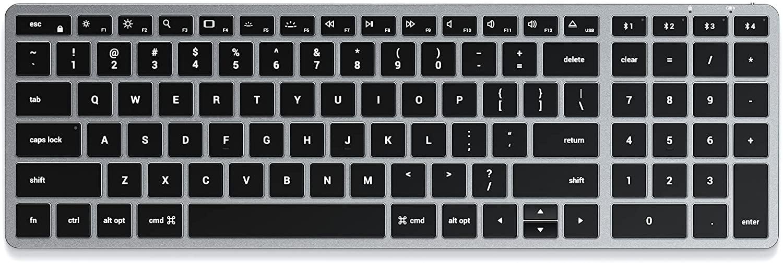 Satechi Slim X2 Bluetooth Backlit Keyboard with Numeric Keypad