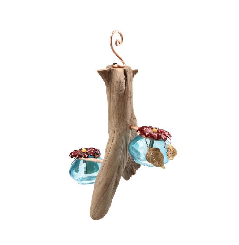 Perry's Drifter Hummingbird Feeder (driftwood hummingbird feeder)