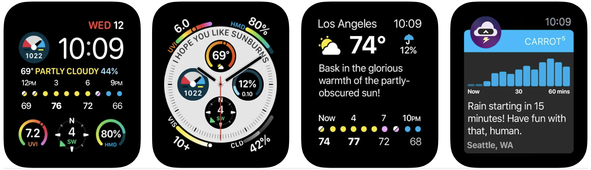 best apple watch apps carrot weather app