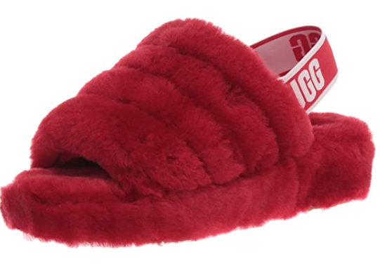 ugg fluff yeah slipper (in red), best valentines' day gifts