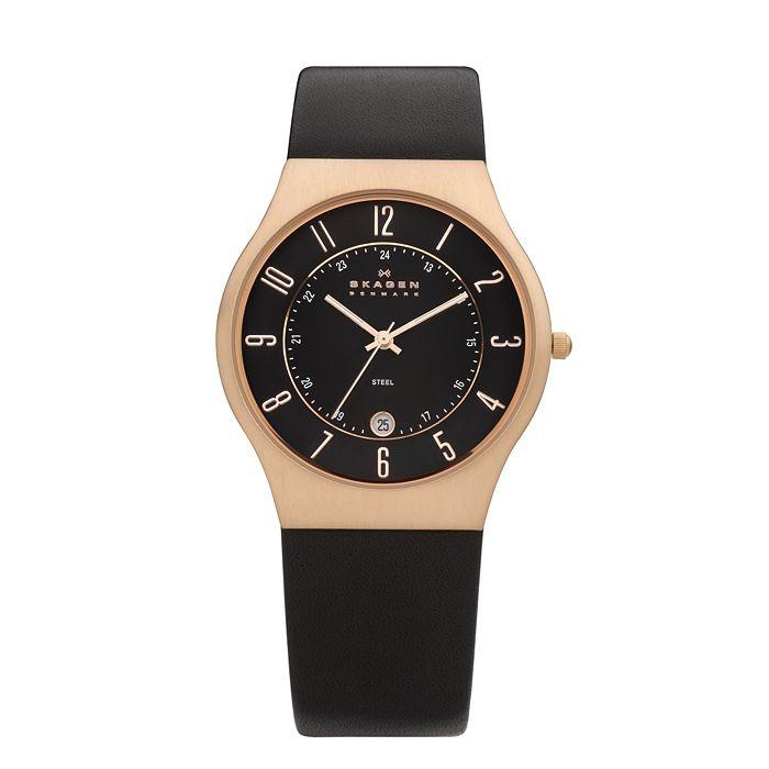 Skagen Grenen Leather Watch