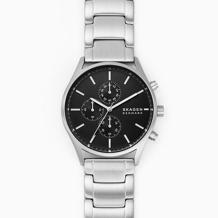 Skagen Holst Chronograph Silver Tone Stainless Steel Watch