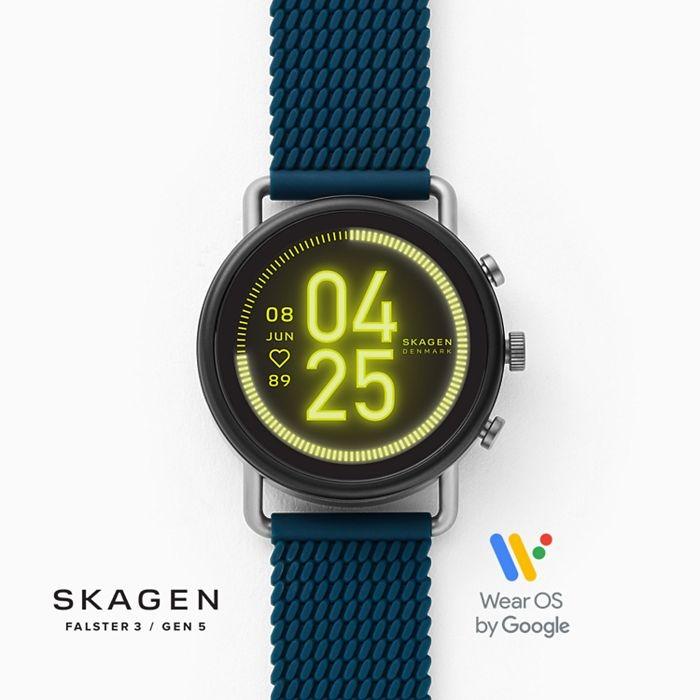 Skagen Smartwatch HR - Falster 3 Blue Silicone Mesh