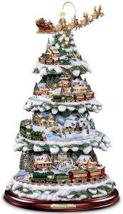 the bradford exchange thomas kinkade animated tabletop christmas tree