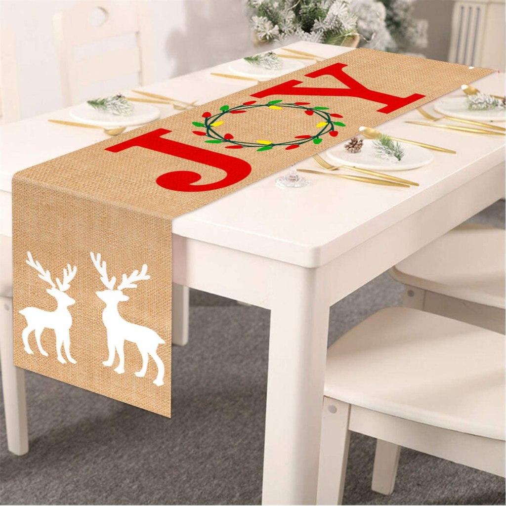 Tifeson Burlap Christmas Table Runner