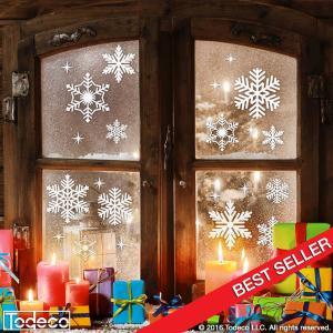 todeco window snowflakes