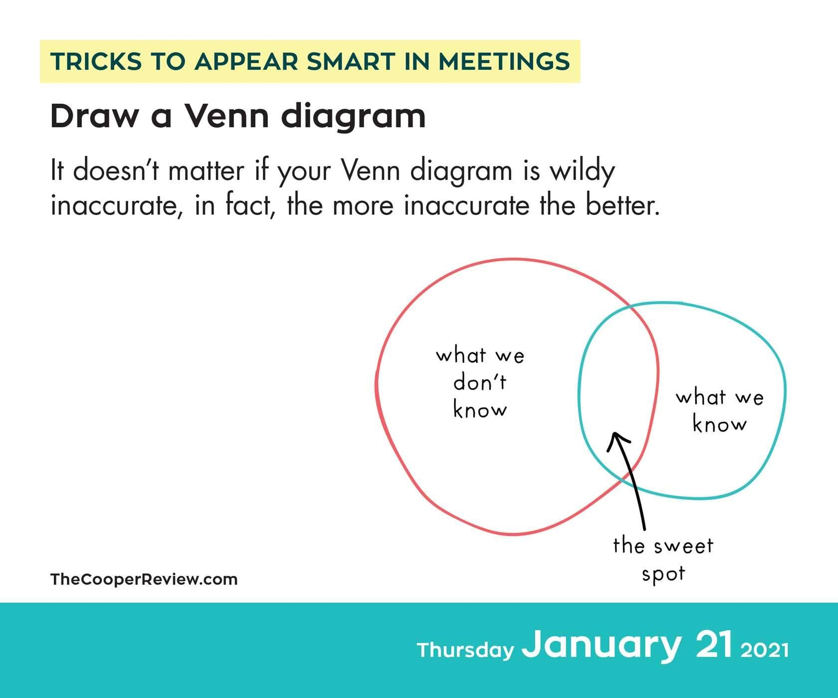 Tricks to Appear Smart in Meetings 2021 Day-to-Day Calendar By Sarah Cooper