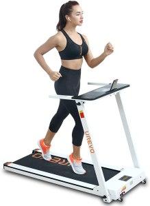 urevo foldable treadmill with desk