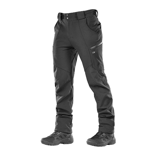 M-Tac Winter Tactical Pants in black with fleece lining
