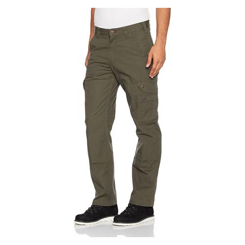 Man wears green Carhartt Ripstop Cargo Work Pants