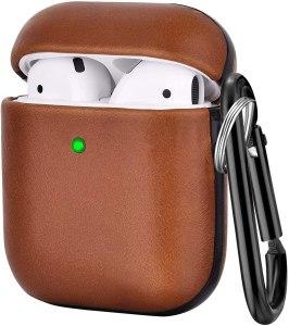 V-MORO leather airpod case, silicone airpod cases