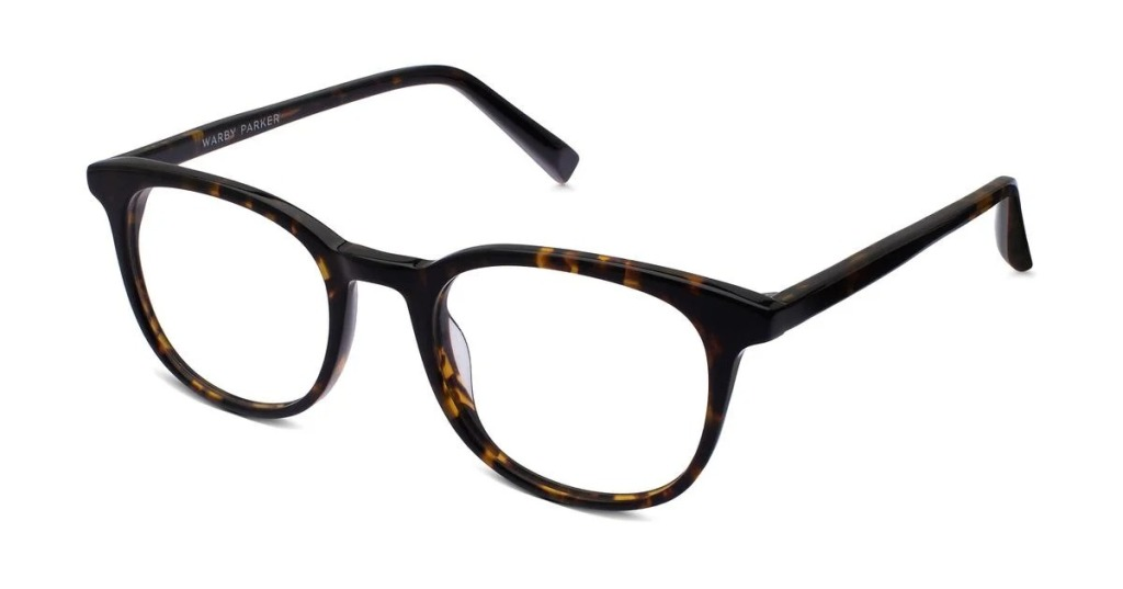 Warby Parker Durand glasses in whiskey tortoise