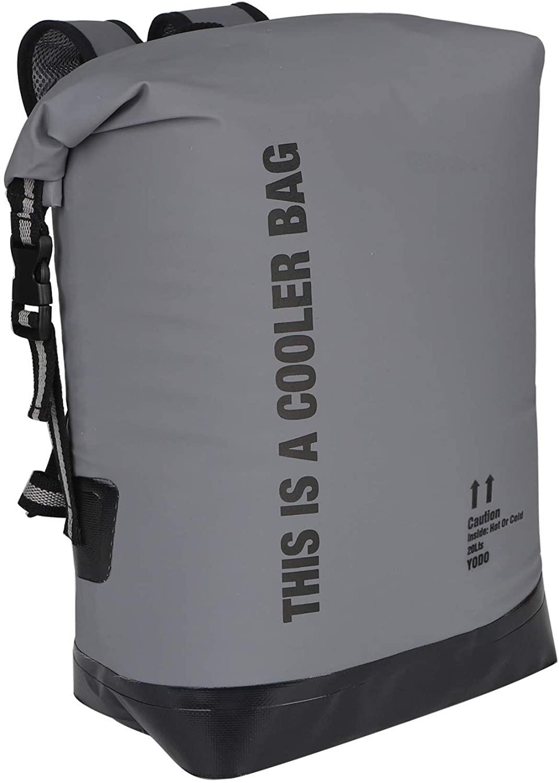 Yodo waterproof dry bag floating cooler backpack in grey