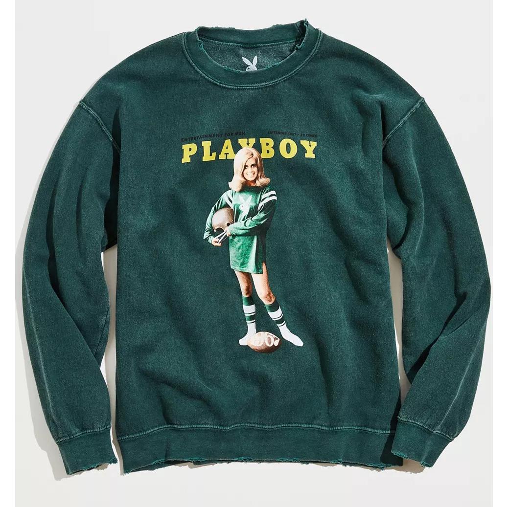 Playboy Collegiate Football Crew Neck Sweatshirt