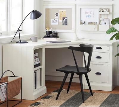 Aubrey Corner Desk with Bookcase & File Cabinet