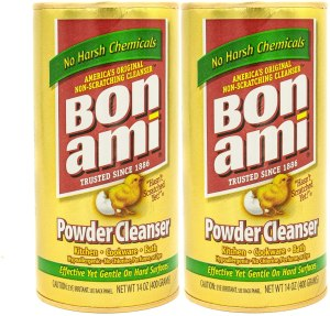 Bon Ami powder cleanser, eco-friendly cleaning products
