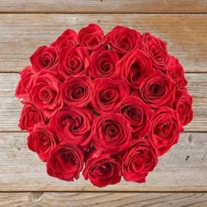 a bouquet composed of classic red roses from The Bouqs Co, best gifts for wife