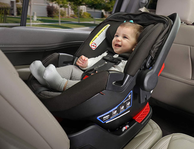 infant car seat with an infant baby in it