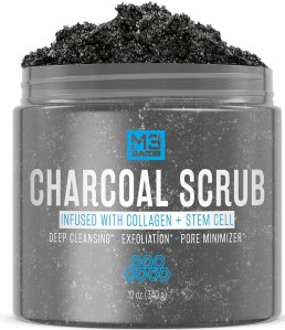 M3 naturals activated charcoal scrub, best facial scrubs