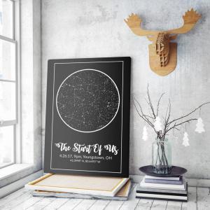 Anniversary Constellation Map, best valentine's day gifts