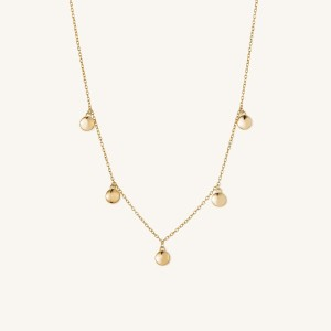 mejuri dot necklace (in gold) , best valentine's day gifts