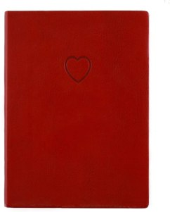 eccolo red embossed heart journal, gifts for wife