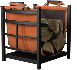 best firewood racks - Panacea Products Mission Log Bin with Log Carrier