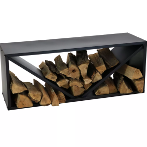 Sunnydaze Decor Steel Triple Triangle Log Rack, best firewood racks