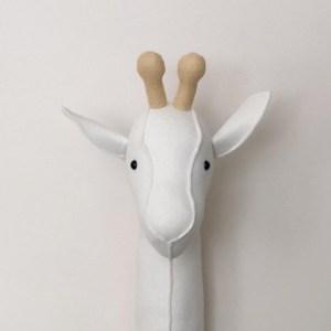 Stuffed Giraffe Animal Head
