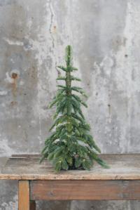 faux pre-lit alpine tabletop tree