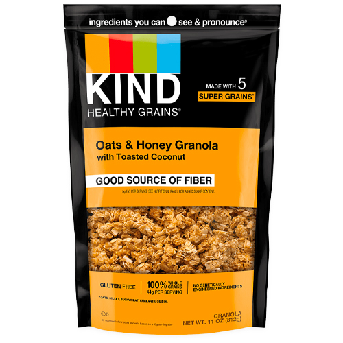 kind oats and honey granola clusters