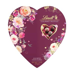 Lindt Valentine Heart Gourmet Truffles Gift Box, gifts for her